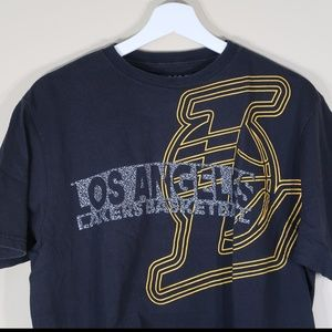 Solid Black Lakers Short-Sleeve T-Shirt